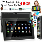 3ED8 67C6D0F New 7'' 16GB Android 4.4 Tablet PC Quad Core HD WIFI Phablet US