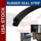 60INCH Camper RV Trailer Trim Lok Lock Seal Rubber Strip Bulb A Side Door Black