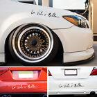 "DIY Car Vinyl Sticker Life is Beautiful "" La Vita E Bella "" Styling Quote Decal"