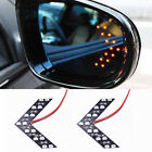 2 X 14SMD Car Rear Mirror Turn Signal LED 12V Indicator Light Yellow Arrow Panel