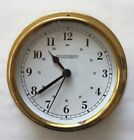 "WEEMS & PLATH ""Trident"" Brass Quartz Marine Clock Made in Germany"