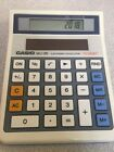 VINTAGE Casio WJ-20 Electronic Calculator 12 Digit LCD 50 LUX SOLAR Japan WHITE