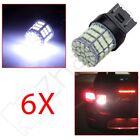 6X White 7443 Backup Reverse LED Light Bulbs 85-SMD T20 7444 992 6000K 12V