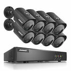 ANNKE 8CH HD 1080N TVI Video Security System DVR with 8Pcs 960P Weatherproof