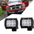 Pair LED Light Bar Pods Driving Lights Off Road Jeep Truck ATV 4 Inch Spot Beam