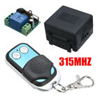DC 12V 2CH Wireless RF Remote Control Radio Switch Transmitter Receiver 315MHZ