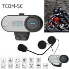 1Pc 800m Motorcycle Helmet Bluetooth Headset Interphone LED Display For Phone