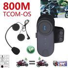 100M Motorcycle Helmet Intercom Bluetooth Communication BT Interphone Headset