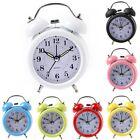 Portable Silent Twin Bell Alarm Clock with Nightlight Loud Alarm Home Decor