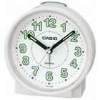 Casio #TQ228-7D Round Travel Table Top Alarm Clock White
