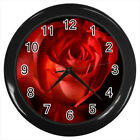 Scarlet Rose Sport Flower #E01 Wall Clock