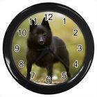 Schipperke Dog Puppy #E01 Wall Clock