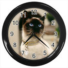 Siamese Cat Kitten #E01 Wall Clock