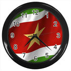 Suriname Flag #E01 Wall Clock
