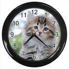 Siberian Cat Kitten #E01 Wall Clock