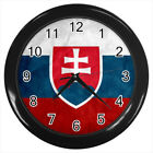 Slovakia Coat of Arms #E01 Wall Clock