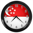 Singapore Flag #E01 Wall Clock