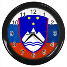 Slovenia Coat of Arms #E01 Wall Clock