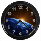 Space Sunrise Over Earth #E01 Wall Clock