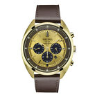 *BRAND NEW* Seiko Men's Gold Tone Dial Brown Leather Strap Steel  Watch SSC570