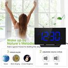 Mpow LED Digital Alarm Clock Curved Screen 3.75'' Large Display Number Clocks