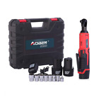 """Cordless Electric Ratchet Wrench Set, AOBEN 3/8"""" 12V Power Tool Kit with"""