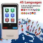 2.4'' Touch Screen WIFI Portable Smart Language Voice Translator 45 Languages