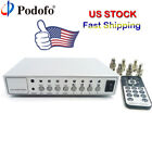 HD Color Video Quad Splitter CCTV Video Camera Processor Switcher System Metal