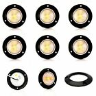 """6 pack of Clear/Amber 2"""" round surface mount clearance/marker LED w/ Black Bezel"""