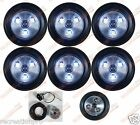 "6 PACK CLEAR/CLEAR WHITE LED 2"" ROUND REVERSE MARKER LIGHTS TRAILER RV FREE SHIP"