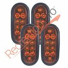 "4 Pack Trailer Truck LED Sealed Amber 6"" Oval Stop Turn Tail Light FREE SHIPPING"