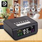 Digoo Digital Wireless LED FM Radio Alarm Clock 12/24h Weather Forecast