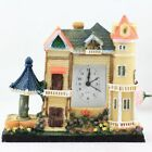 Miniature House Quartz Figurines Pastoral Desk Silent Clock Crafts Fashion Gifts