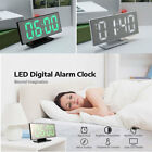 Digital LED Alarm Clock Make-up Mirror Home Table Desktop Decor With USB Port