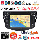 7'' HD Double 2din BT Car Stereo DVD Player GPS Radio Unit For Toyota RAV4 W/MAP
