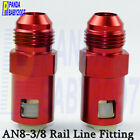 """2PCS × Male AN8 -8 to 3/8"""" Female Rail Line Fitting Adapter Quick Connect Red"""