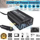 Black 350W Car Power Inverter Charger 12V DC to AC 110V with 4.2A Dual USB 2018