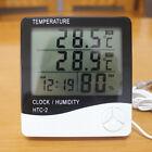 LCD Indoor Outdoor Digital Thermometer Hygrometer Meters Calendar Alarm Clock
