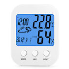 Battery Operated Multi-functional Alarm Clock Date Temperature Humidity Display