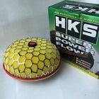 "3"" Yellow HKS Super Power Air Filter Flow 100mm caliber Intake Reloaded Cleaner"