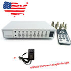 4CH Video Quad Splitter Metal Color CCTV Camera Processor Switcher with Adapter