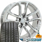 20x8.5 Rims Tires TPMS Fit Camaro CV19 ZL1 Chrome Wheels Ironman 5547