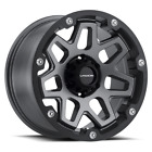 "4 Vision 416 Se7en 17x9 8x6.5"" -12mm Gunmetal/Black Wheels rims 17"" Inch"