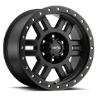 "4 Vision 398 Manx 18x9 6x5.5"" +18mm Matte Black Wheels Rims 18"" Inch"