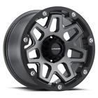"4 Vision 416 Se7en 17x9 6x5.5"" +12mm Gunmetal/Black Wheels Rims 17"" Inch"