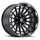 "4 Vision 417 Creep 18x9 8x6.5"" -12mm Satin Black Wheels rims 18"" Inch"