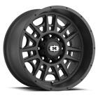 "4 Vision 418 Widow 20x9 5x5.5"" +12mm Satin Black Wheels Rims 20"" Inch"