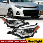 For 2014 2015 2016 Toyota Corolla LED Headlights Headlamp Aftermarket Left+Right