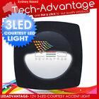 12V 3-LED BLACK CABIN COURTESY LED LIGHT BOAT/CAR/RV