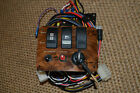 "Brown Boat Switch Panel Complete w/Fuse Panel and Wiring (Size 5""x4"")"